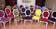 chaise medaillon couleur